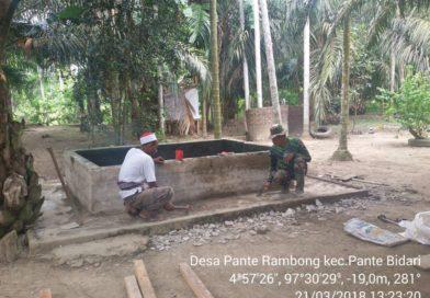 MCK Dayah Raudhatul Muta'allimin Masuk Program TMMD 101 Kodim Aceh Timur